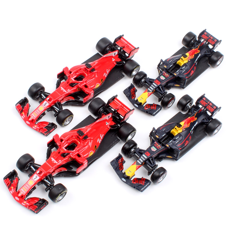 Kids 1:43 Scale BBurago Racer RB15 SF71H SF90 Kimi Raikkonen Charles Leclerc Sebastian Vettel Diecast Model Vehicle Car Toy 2019