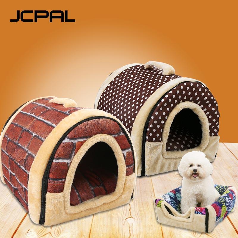 JCPAL Pet Soft Dog Cat House Beds 8 Color Warm Soft Corduroy Hand Wash Pet Products House Pet Beds For Cat Dog thumbnail