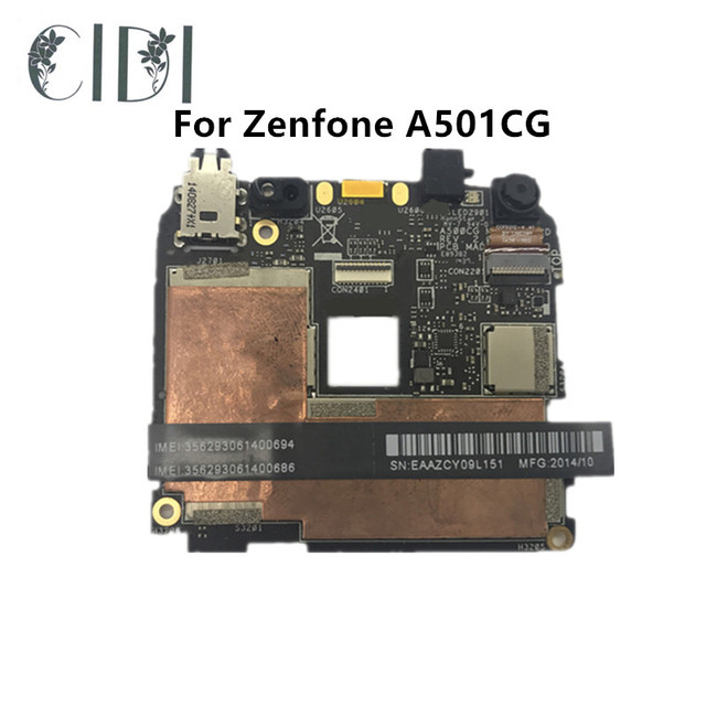 CIDI Motherboard for ASUS ZenFone 5 Z5 A501CG Mainboard 16GB Rom 1GB RAM  Logic Board Circuits Accessory Bundles-in Circuits from Cellphones &