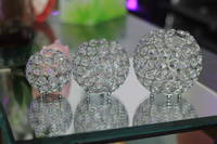Beautiful Round 12cm Crystal Candle Holder For Wedding Table Centerpiece Tealight