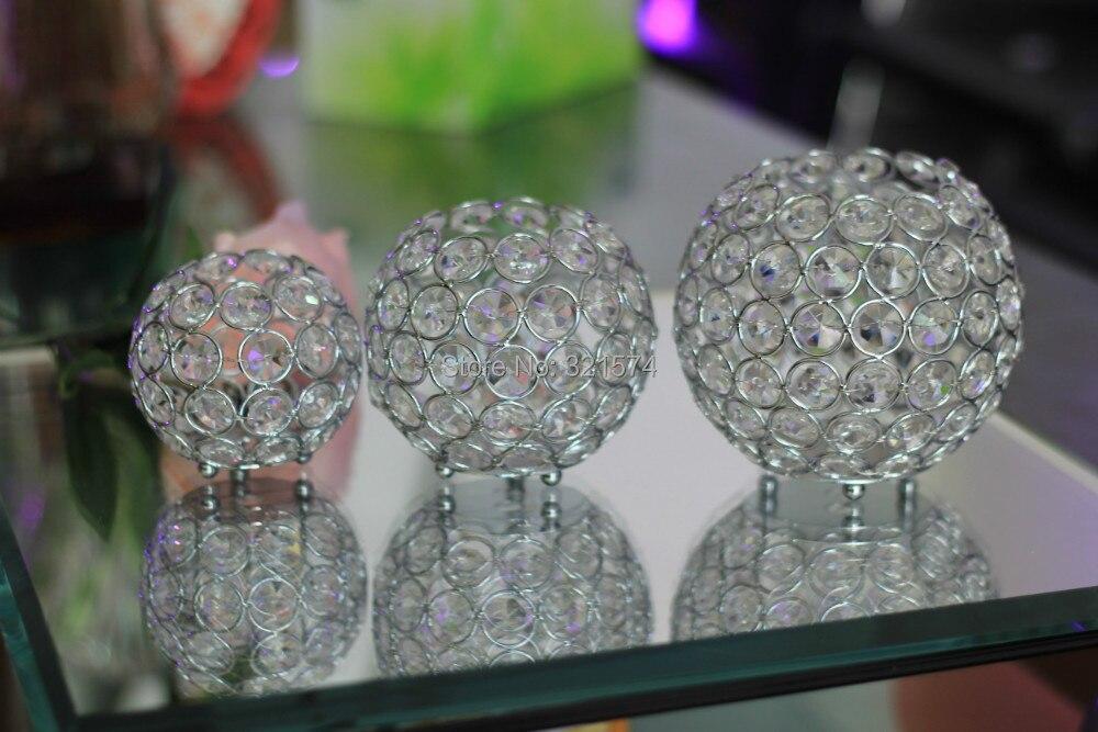 Gros cristal photophore ensemble décoration de mariage rond diamètre 8 cm 10 cm 12 cm cristal candélabre