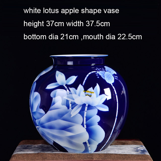 Online Shop Big Blue Vase Collection Jingdezhen Ceramic Master