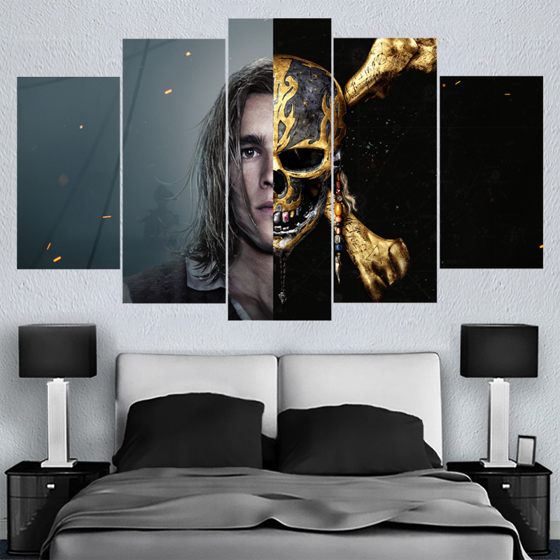 Home Decor Wall Art Movie Star Caribbean Canvas Paintings HD Printed Framed Or Unframed Canvas Painting For Bed Living Room