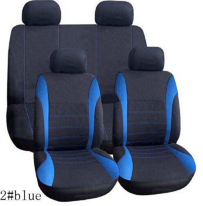 rete automobile 9pcs/set Car Seat Cover sets Universal Fit 5 seat SUV sedans front/back seat elastic washable breathable strip
