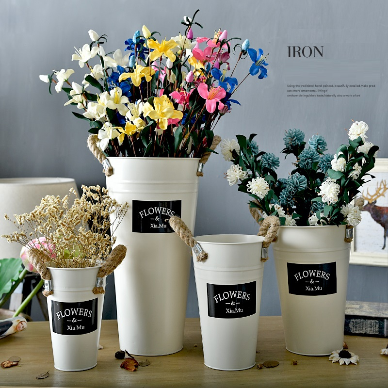 Hemp Rope Tin Cylinder Vases Flower Flowerpot Florist Decorate Dried Flowers Decorative Artificial Flower Home Accessories Cylinder Vase Vase Flowercylinder Flower Vase Aliexpress