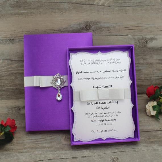 ca0776 luxury boxed silk quinceanera wedding invitation in cards