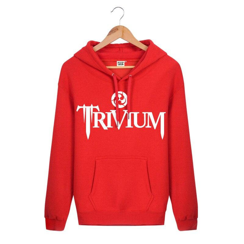 2017 New Fashion Autumn Cotton Slim Fit Sportswear Pullover Trivium Rock Band Printed Hip Hop Cool