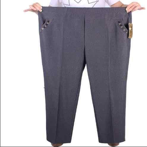 Clobee женские брюки 2018 зима осень плюс размер 6XL 7XL средний возраст женщины носить брюки женский с эластичной талией черные брюки J364