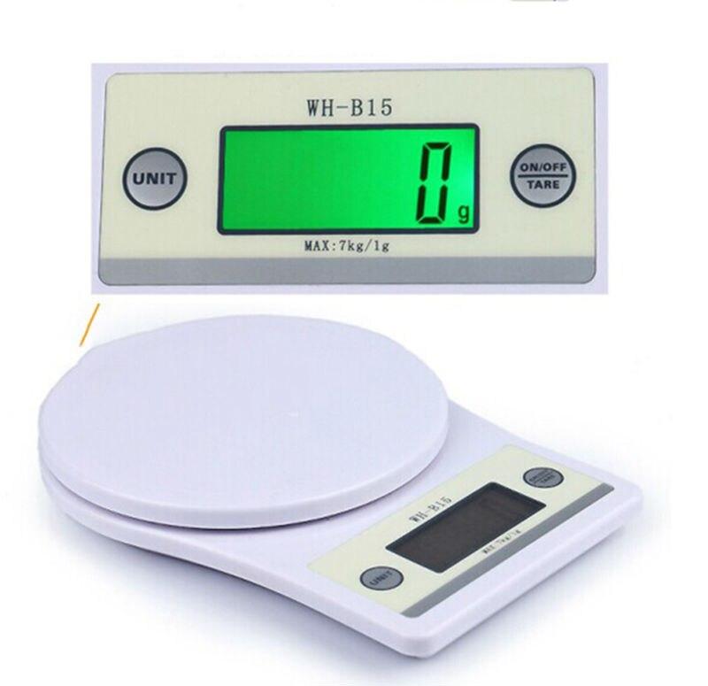 7KG Digital Food Diet Gram Scales 7kg/1g Digital Electronic Kitchen Postal Weighing Balance Portable Cooking Bench Scales