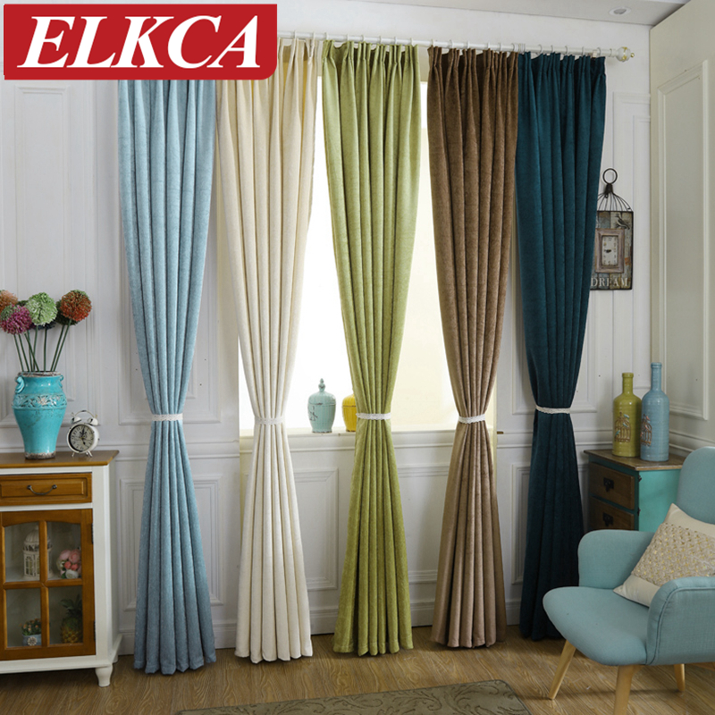 Buy luxury chenille curtains for living room modern window curtains for the - Modern kitchen curtains and valances ...