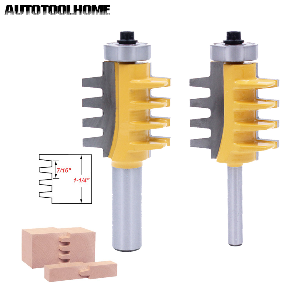 цена на 1Pcs Reversible Finger Glue Joint Router Bits CNC Milling Cutter Woodworking 4 Teeth MAX 1-1/4 Stock Tungsten Carbide Blades