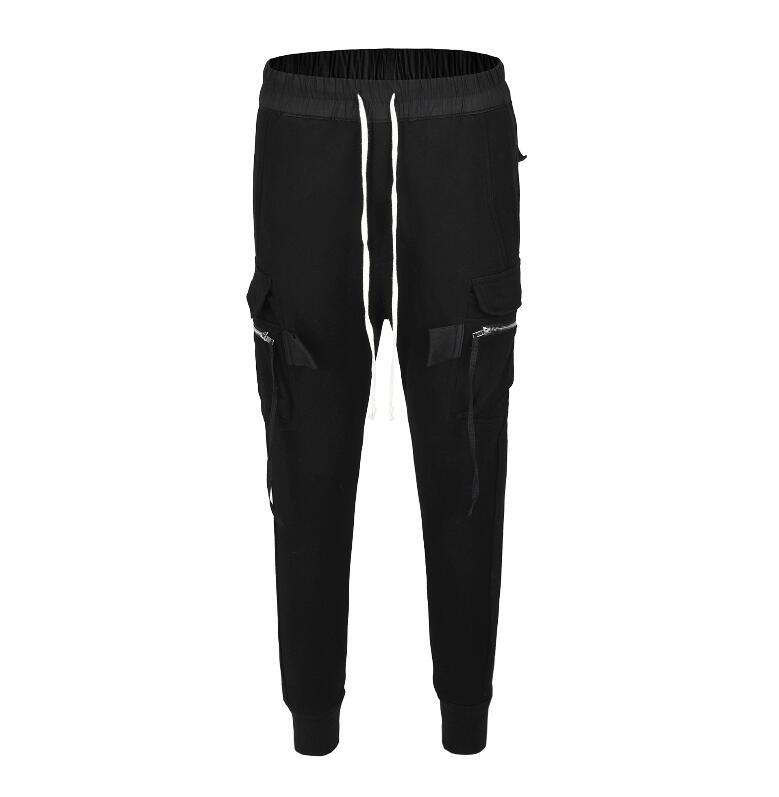 90 S nouveau style RO haute qualité Europe amérique hommes poche ruban Ribpile boucle garde pantalon INS haute rue loisirs coton pantalons de survêtement