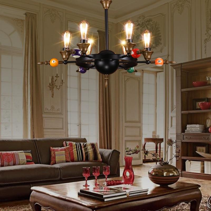 Retro industry Billiards table tennis pendant lights bar cafe restaurant living room home decoration pendant lamps ZA GY245