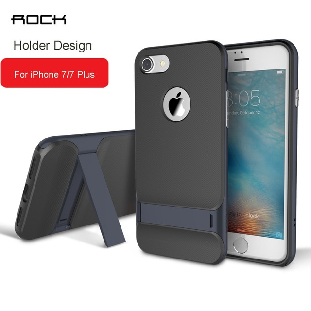 Para iphone 6 case pc frame volver case cubierta de lujo, rock royce pata de cabra case holder para iphone 6 s plus cárcasas para iphone 7
