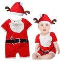 Venda quente do bebê macacões com chapéu chirstmas roupas avô geada novas roupas ano do bebê para meninas new arrival