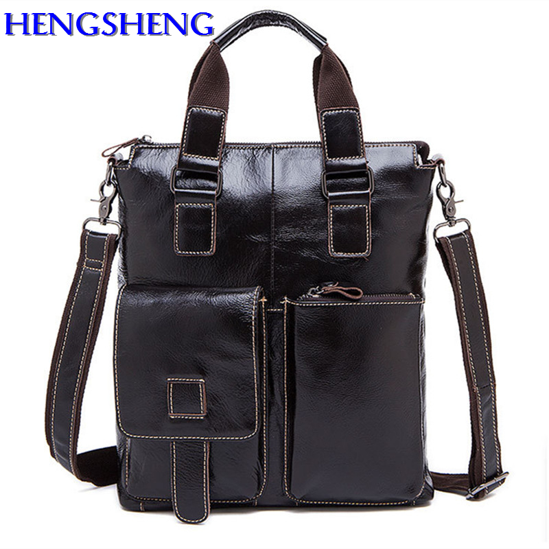 Free Shipping Black genuine leather men shoulder bags with cow leather male crossbody men bag for business men bagsFree Shipping Black genuine leather men shoulder bags with cow leather male crossbody men bag for business men bags