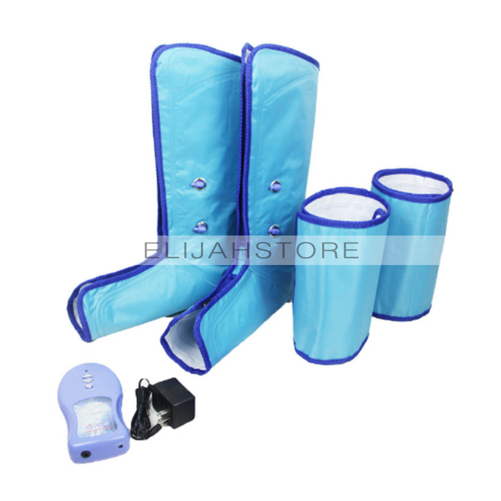 17 New Ankle Therapy Massage Slimming Legs Foot Massager Air Compression Leg Wrap Boot Socks Heating Sauna Belt Relax Vibrator 15