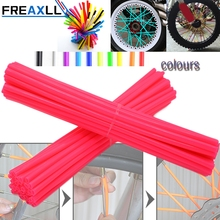 72Pcs/Pack Off-road Bike Wheel spoke skin Colorful Motocross Rims Skins Covers For KTM SX EXC MXC 250 300 400 450 520 525 350