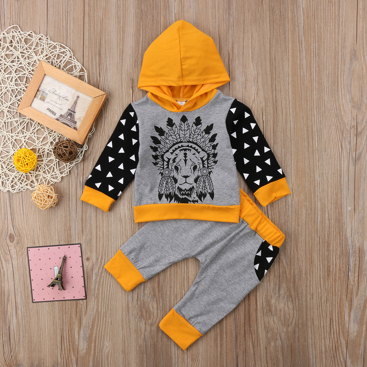 2PCS Pudcoco HOT SALE Cotton Toddler Baby Boys Girl Hoodie Long Sleeve T-Shirt Pants Fashion Set Clothes 0-24M