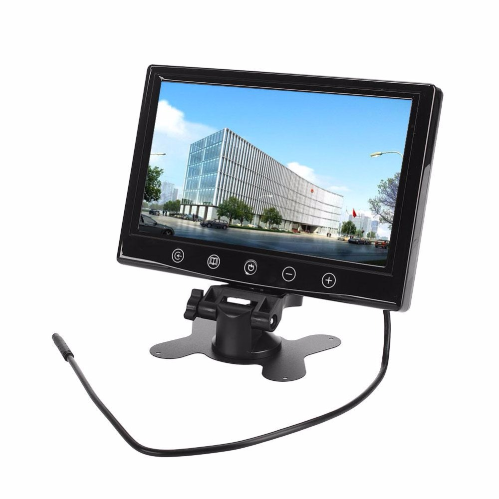 giantree Car Monitor 9 Inches TFT LCD Rear View Camera Surveillance Cameras Monitor podofo 9 tft lcd car monitor headrest display support 4 split screen for rear view camera dvd vcr remote control car styling