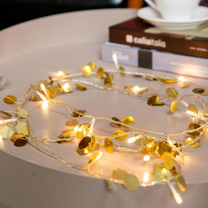 Gold Color 20 LEDs Christmas Garland Copper Wire LED String Lamp Fairy Lights For Indoor New Year Xmas Wedding Decoration