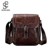 Famous Brand Men Fashion Design Messenger Bag Male Genuine Leather Shoulder Bag High Quality Small Style