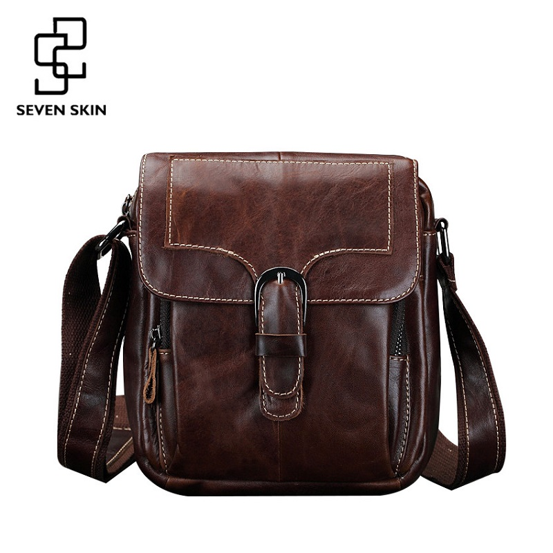 Famous Brand Men Fashion Design Messenger Bag Male Genuine Leather Shoulder Bag High Quality Small Style Vintage Travel Flap Bag high quality authentic famous polo golf double clothing bag men travel golf shoes bag custom handbag large capacity45 26 34 cm
