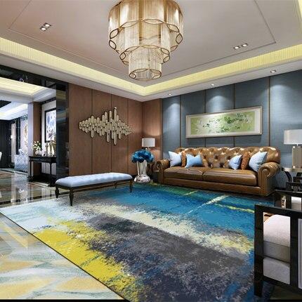 Simple modern abstract ink Nordic American rug living room coffee table bedroom bedside custom rectangular full carpet - 2
