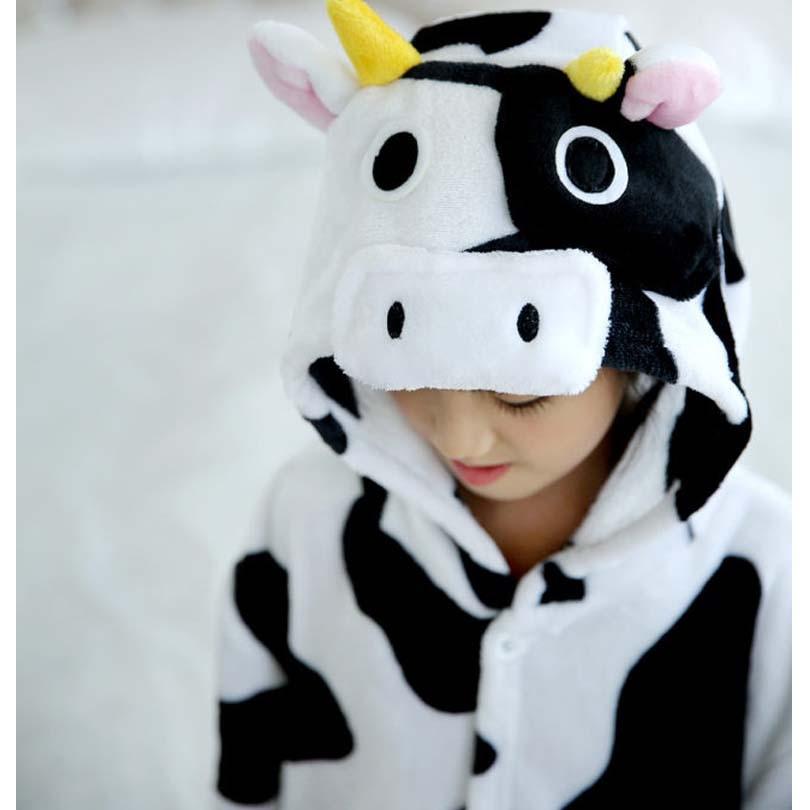 9b52a731e Kids Toddler Cartoon Animal Milk Cow Costume Performance Jumpsuit ...