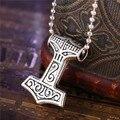 Сплав металла Тор молоток ожерелье человек super hero THOR МОЛОТА Норвежский мужская ожерелья & Подвески мужчины Рождество Новый Год ювелирные изделия
