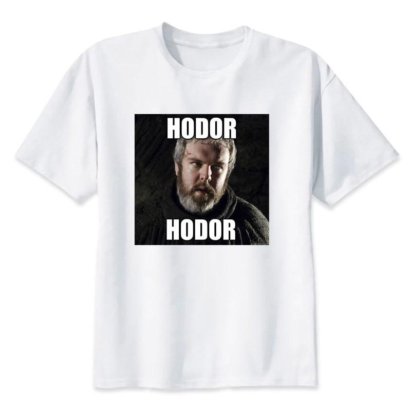 hodor t cartoon shirt shirt fashion t-shirt O Neck white For man Top Tees7 cool white tshirt print T-shirt men Tees MMR426
