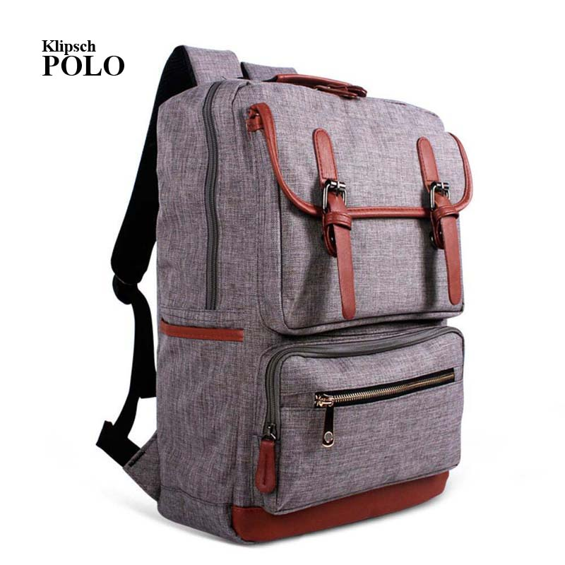 Fashion Backpacks for Men and Women Solid Preppy Style Soft Back Pack Unisex School Bags Big Capicity Canvas Bag gw082 aosbos fashion portable insulated canvas lunch bag thermal food picnic lunch bags for women kids men cooler lunch box bag tote