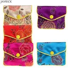 JAVRICK, сумки для хранения ювелирных изделий, Шелковый, Китайская традиционная сумка, кошелек, подарки, драгоценности, Органайзер