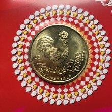 25 мм Год Петуха Шанхай Мятная китайская медаль МОНЕТА подарок