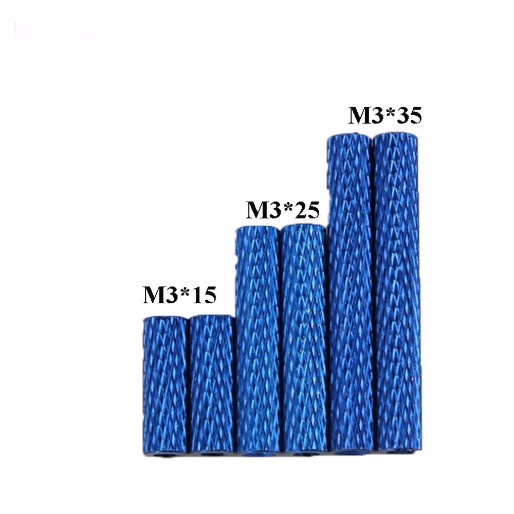 24 ชิ้นอลูมิเนียม S Tandoffs M3x35 / m3 * 25 / m3 * 15 รอบ Spacer S Tandoff Knurled ขั้วโลกสำหรับ QAV-R QAV210 250 DIY FPV Quad จมูก