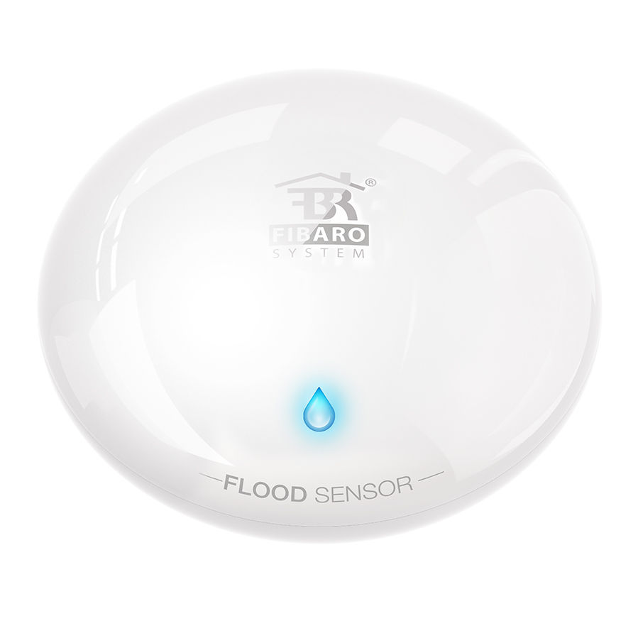 Fibaro Z 波プラス洪水センサー水漏れセンサー検出器アラーム FGFS 101 ZW5 内蔵温度センサー火災警報  グループ上の セキュリティ & プロテクション からの センサー & 探知機 の中 1