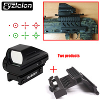 AK Side Mount Quick QD Style + Green Red Dot Sight Reflex Scope 20mm Hunting Tactical AK Holographic 1x22x33 Reflex C