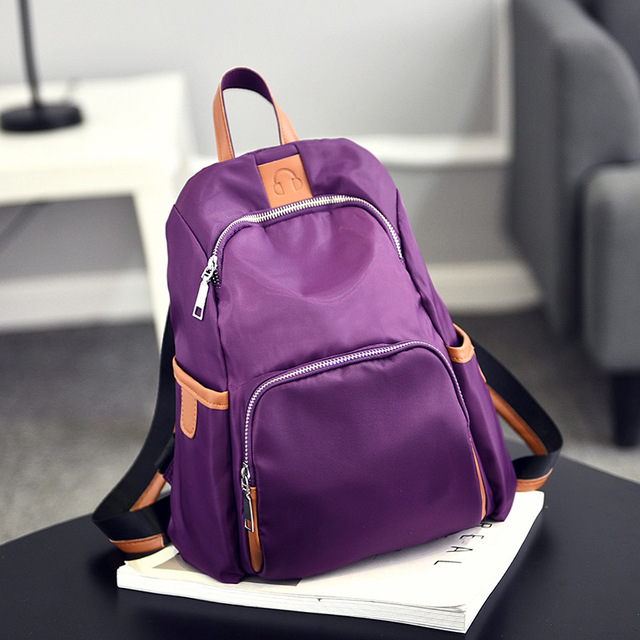 18efc74eb82 Fashion on Trend Small Black Purple School Bag Cute Backpacks High School  for Teenagers Girls Mini Sac A Dos Femme