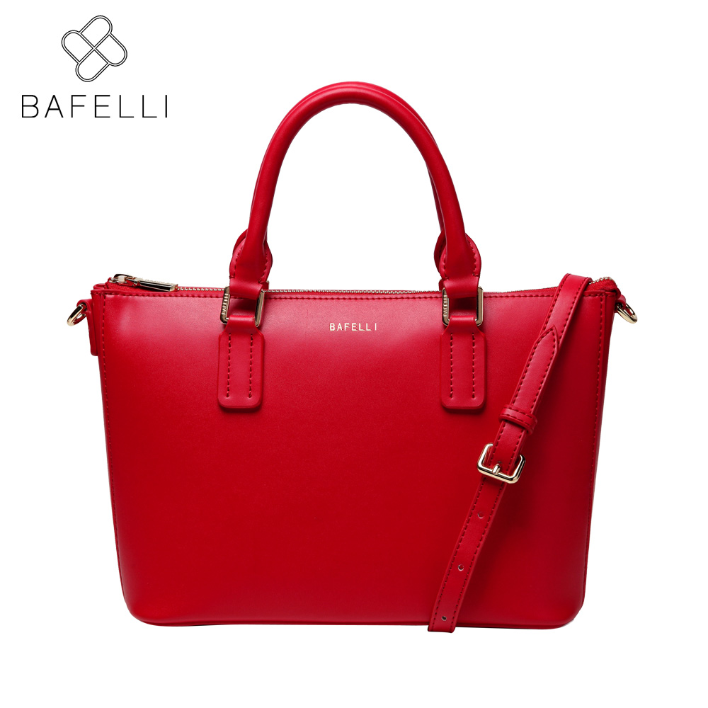 BAFELLI casual womens fashion dress tote shoulder handbag simple crossbody messenger bag red black pink women bag
