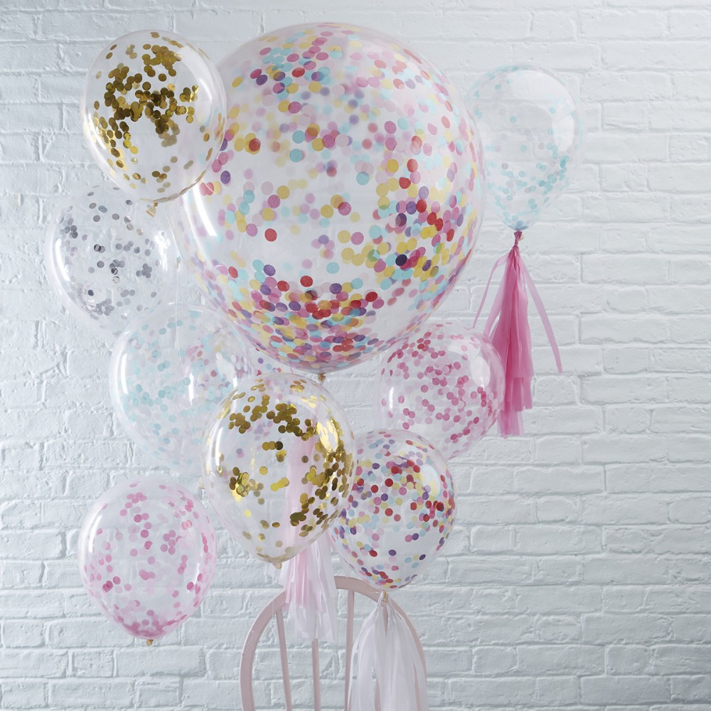 YORIWOO Confetti Balloon Colorful Balloons Air Latex Balloon Rose Gold Wedding Baby Shower 1st Birthday Party Decorations Kids in Ballons Accessories from Home Garden