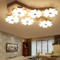 Flor de ameixa criativa conduziu a luz teto sala estar quarto acrílico montado lâmpada do teto moderno plafonnier luminária|Luzes de teto| |  -