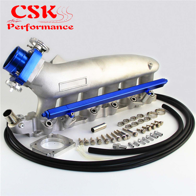 Intake Manifold +Fuel Rail & 80mm VQ35TPS Throttle Body For NISSAN Skyline R32 R33 RB25 RB25DET GTS-T