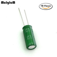 купить 10pcs Super capacitor 2.7V 3.3F Fala capacitance winding type tachograph control electromechanical energy storage capacity 8*20 дешево