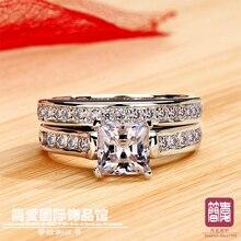 1,5 карат роскошный качественный NSCD синтетический камень Обручальное кольцо Набор для женщин, свадебный набор, набор обручальных колец