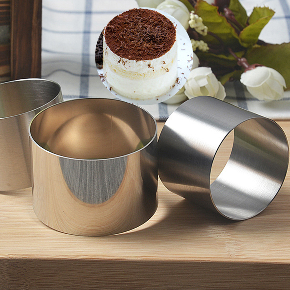 2 Inch Mini Round Mousse Mold Practical Food Grade Stainless Steel Cake Pastry Ring Mold Baking Tool Home Kitchen Accessories in Cake Molds from Home Garden