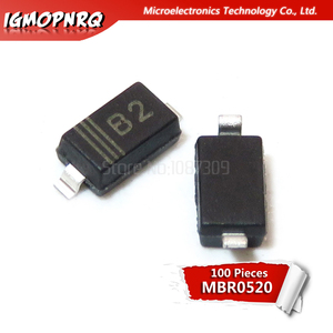 100pcs MBR0520LT1G SOD123 SOD MBR0520 Surface Mount Schottky Power Rectifier new and original
