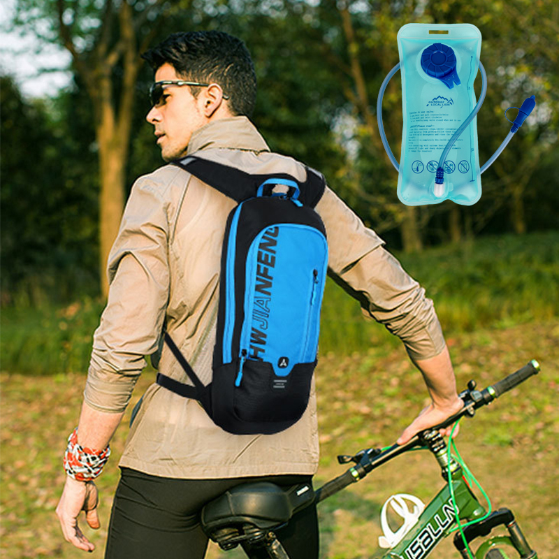 Outdoor Running Cycling Backpack 1.5L Bladder Water Bag Sports Camping Hiking Hydration Backpack Riding Running Cycling Backpack
