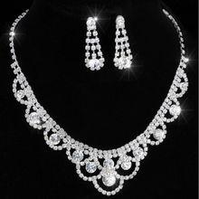 770a99af95e0 Pendientes de la boda collar de dama de honor nupcial joyería de la boda inspirado  cristal tenis declaración collar