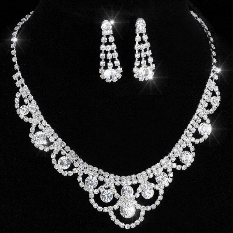 Earrings wedding necklace Bridal Bridesms