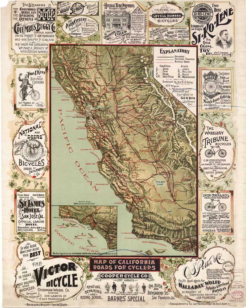 Old Map Of California Usa Map Vintage Ancient Canvas Oil Painting - Old-map-of-us